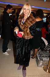 VIRGINIA BATES at the launch of Roberto Cavalli Vodka held in the International Designer Room, Harrods, Hans Crescent, London on 5th December 2006.<br /><br />NON EXCLUSIVE - WORLD RIGHTS