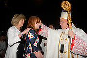 DENVER, CO - MAY 7:  Candidates get confirmed during the Archdiocese of Denver's inaugural Sealed and Sent event at the Denver Coliseum  on May 7, 2016 in Denver, Colorado. (Photo by Dan Petty for the Archdiocese of Denver)