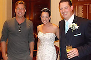 Here comes the bride and groom (and Brad Pitt!) Hollywood star crashes couple's wedding as they hold reception in his hotel<br /> <br /> it's undoubtedly the happiest day of a woman's life. <br /> But bride Abi Lingwood's wedding day was made even more special over the weekend, when she discovered Brad Pitt was staying in the same hotel that she and her new husband were holding their wedding reception in. <br /> Brad - who is shooting new World War II blockbuster Fury at the nearby Pinewood Studios - was spotted enjoying a drink at the bar of the Maidenhead hotel by eagle-eyed groom Daniel. <br /> And it wasn't long until Daniel had persuaded Brad, 49, to come and meet his new wife, and pose up for a quick snap. <br /> Abi told local newspaper the Maidenhead Advertiser: 'My husband said to me Brad Pitt was at the bar and you have got to come with me so he dragged me across the hotel. I thought he was joking.'<br /> The suave star, who is in the midst of planning his own wedding to fiancée Angelina Jolie, obliged the bride's request for photos and complimented her wedding gown.<br /> She added: 'He said congratulations and I hope you have had a great day and let's have a picture. And he said I looked nice. He was really nice.'<br /> <br /> Awestruck Abi admits the A-lister's presence caused a stir among her wedding party, who deluged him with requests for pictures, and claims Brad unwittingly upstaged her nuptials.<br /> She said: 'The girls were going wild and mental so Brad Pitt and the people he was with went upstairs to a room for their meeting.<br /> 'It has become more of a talking point than my wedding, but that is fine.'<br /> In the shots, Brad was seen with his newly-shorn hair, which has had cut for Fury.<br /> The heartthrob is playing the role of a soldier who is part of a five-man crew of a tank named Fury during the final weeks of World War II. <br /> Written by director David Ayer, the film sees the crew take on a desperate German division facing an almost hopeless predicament.   <br /> He is starring alongside big name actors including Shia