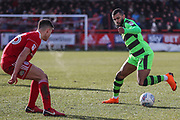 Forest Green Rovers Dan Wishart(17) on the ball during the EFL Sky Bet League 2 match between Accrington Stanley and Forest Green Rovers at the Wham Stadium, Accrington, England on 17 March 2018. Picture by Shane Healey.