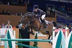 Müller Caroline (GER) - Whitaker<br /> Jumping Indoor Zuidlaren 2010<br /> © Hippo Foto - Leanjo de Koster