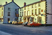 The Cain Valley Hotel, Llanfyllin,  Montgomeryshire, Powys, Wales, UK 1972