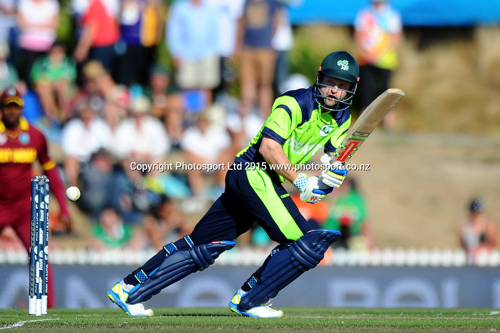 Ed Joyce from Ireland during the 2015 ICC Cricket World Cup match between West Indies and Ireland. Saxton Oval, Nelson, New Zealand. Monday 16 February 2015. Copyright Photo: Chris Symes / www.photosport.co.nz