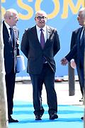 NAVO-bijeenkomst in Brussel. Tijdens de top wordt onder meer gesproken over gereedheid, inzetbaarheid en het verbeteren van de militaire mobiliteit in Europa.<br /> <br /> NATO meeting in Brussels. The summit discusses, among other things, readiness, employability and the improvement of military mobility in Europe.<br /> <br /> Op de foto / On the photo:  De premier van Portugal Ant&oacute;nio Costa / The Prime Minister of Portugal Ant&oacute;nio Costa