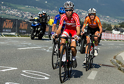 GUDERZO Tatiana of Italy, LANGVAD Annika of Denmark, Ellen van DIJK of Netherlands during the Women's Elite Road Race a 156.2km race from Kufstein to Innsbruck 582m at the 91st UCI Road World Championships 2018 / RR / RWC / on September 29, 2018 in Innsbruck, Austria. Photo by Vid Ponikvar / Sportida