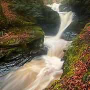 The falls of Acharn, Perth and Kinross