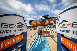 KLÄSENER Christopher (GER), ASPEN 22<br /> Münster - Turnier der Sieger 2019<br /> MARKTKAUF - CUP<br /> BEMER-Riders Tour - Qualifier for the rating competition (comp no 11)  - Stechen<br /> CSI4* - Int. Jumping competition with jump-off (1.50 m) - Large Tour<br /> 03. August 2019<br /> © www.sportfotos-lafrentz.de/Stefan Lafrentz