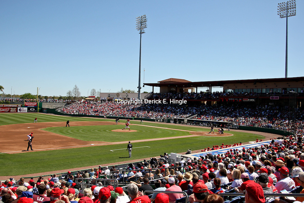 March 05, 2011; Clearwater, FL, USA; A general view during a spring training game between the New York Yankees and the Philadelphia Phillies at Bright House Networks Field. Mandatory Credit: Derick E. Hingle-US PRESSWIRE