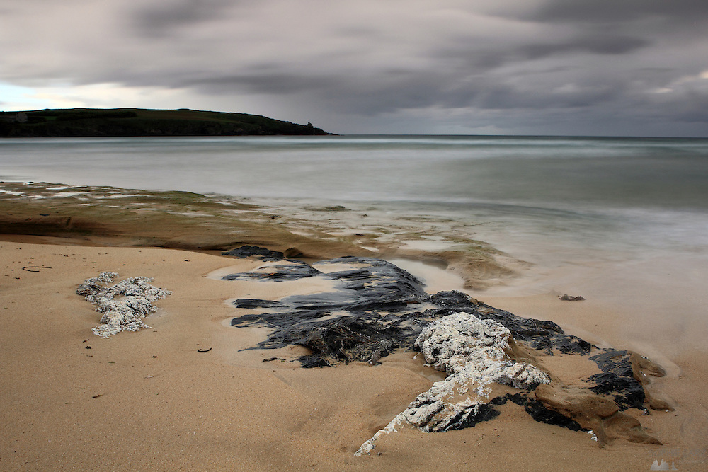 Harlyn Bay near Padstow on the north coast of Cornwall on a stormy day.