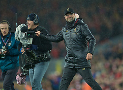 LIVERPOOL, ENGLAND - Friday, April 26, 2019: Liverpool's manager Jürgen Klopp refuses to do his traditional triple air punch with the steady cam behind him during the FA Premier League match between Liverpool FC and Huddersfield Town AFC at Anfield. (Pic by David Rawcliffe/Propaganda)
