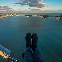 My point of view flying high over Biscayne Bay photographing for One River Point Development.