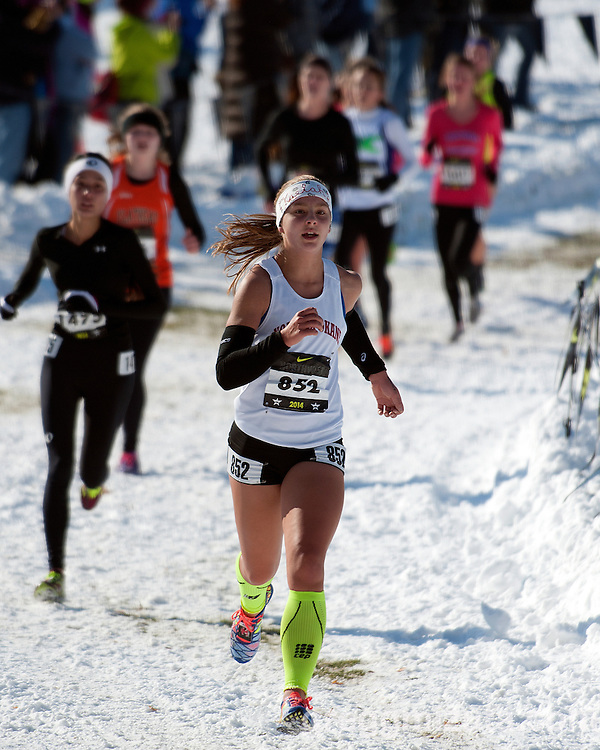 Kaelah Corrigan, NXN Northwest girls varsity race, November 15, 2014 at Eagle Island State Park, Eagle, Idaho.