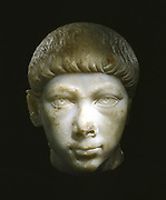 Marble portrait bust  of Valentinian II or his half-brother Gratian: c. 375. Byzantine