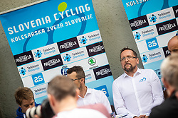 Martin Hvastja during press conference of Slovenian national cycling team before world championship in Yorkshire, Great Britain. Press conference held in Dvor Jezersek, on 17th of September, 2019, Kranj, Slovenia. Photo by Grega Valancic / Sportida