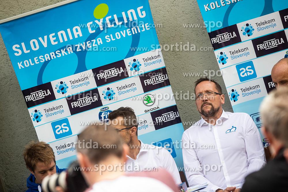 Martin Hvastja during press conference of Slovenian national cycling team before world championship in Yorkshire, Great Britain. Press conference held in Dvor Jezersek, on 17th of September, 2019, Kranj, Slovenia. Photo by Grega Valancic / Sportida