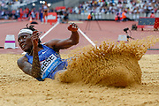 Brittney Reece, USA, Women's Long Jump, during the Muller Anniversary Games 2019 at the London Stadium, London, England on 21 July 2019.