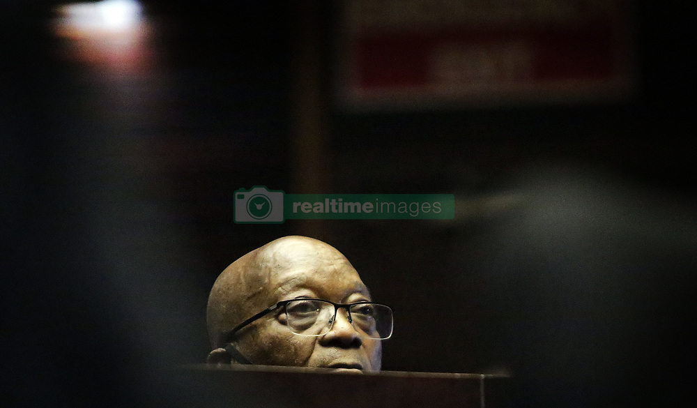 South Africa - Durban - 23 June 2020 - The former president Jacob Zuma at the dock at his court appearance in person at the Pietermaritzburg High Court on Tuesday for his corruption trial. The matter was  adjourned to the 8th of September 2020<br /> Picture: Motshwari Mofokeng/African News Agency (ANA)