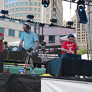 Lawn Chair Generals, Peter Christianson and Carlos Mendoza, perform at Movement 2008 (Detroit Electronic Music Festival).