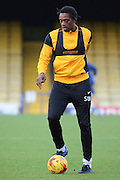 Southend United striker Nile Ranger (50) dribbling during the EFL Sky Bet League 1 match between Southend United and Bradford City at Roots Hall, Southend, England on 19 November 2016. Photo by Matthew Redman.