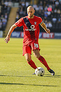 York City midfielder Russell Penn during the Sky Bet League 2 match between Notts County and York City at Meadow Lane, Nottingham, England on 26 September 2015. Photo by Simon Davies.