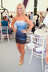 GERI HALLIWELL at the Cartier International Polo at Guards Polo Club, Windsor Great Park, Berkshire on 25th July 2010.