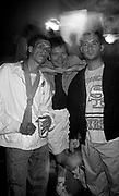 Tony Wilson, Factory Records Boos, Bez and Paul Ryder from the Happy Mondays, The Hacienda, Manchester 1989
