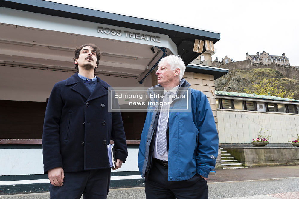 International architects fly in to Edinburgh for their first sight of West Princes Street Gardens as they compete to design a new venue to replace the Ross Bandstand.<br /> <br /> Chair Norman Springford and Project Manager David Ellis from the Ross Development Trust provide visiting teams with a tour of the Gardens and existing Bandstand site.<br /> <br /> A competition to replace the Ross Bandstand in the heart of Edinburgh's West Princes Street Gardens with a new landmark Pavilion has received worldwide interest from architects and designers.<br /> <br /> Entries from 125 teams spanning 22 countries and made of 400 individual firms have been narrowed down to seven finalists. <br /> <br /> The seven finalists will be invited to create concept designs for the £25m project brief, which includes a new landmark venue to replace the bandstand, a visitor centre and subtle updates to West Princes Street Gardens.<br /> <br /> Each of the finalist teams will be led by the following architects:<br /> <br /> - Adjaye Associates (UK)<br /> - BIG Bjarke Ingels Group (Denmark)<br /> - Flanagan Lawrence (UK)<br /> - Page \ Park Architects (UK)<br /> - Reiulf Ramstad Arkitekter (Norway)<br /> - wHY (USA)<br /> - William Matthews Associates (UK) and Sou Fujimoto Architects (Japan)<br /> <br /> Pictured:Norman Springford with the project lead from Adjaye Associates