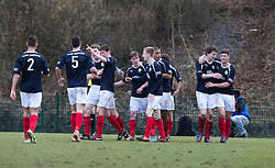 Falkirk's Blair Alston (8) celebrates after scoring their first goal..half time : Hamilton v Falkirk, Scottish Cup quarter-final, Saturday, 2nd March 2013..©Michael Schofield.