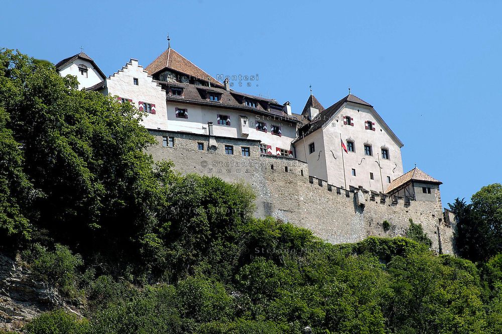 Liechtenstein  Vaduz  June 2008. Vaduz Castle.The castle which is about 700 years old, has benn in the possesion of the Princes of Liechtenstein since 1712..
