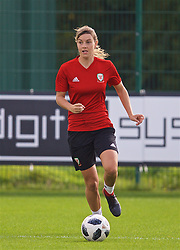 NEWPORT, WALES - Friday, October 5, 2018: Wales' Gemma Evans during a training session at Dragon Park. (Pic by David Rawcliffe/Propaganda)
