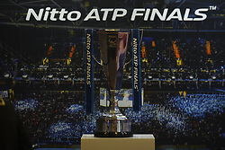 November 13, 2017 - London, England, United Kingdom - Nitto ATP Trophy is seen during day two of the Nitto ATP World Tour Finals at O2 Arena on November 13, 2017 in London, England. (Credit Image: © Alberto Pezzali/NurPhoto via ZUMA Press)