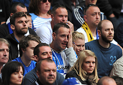 A Bristol Rovers fan looks nervous ahead of the penalty shoot out - Photo mandatory by-line: Dougie Allward/JMP - Mobile: 07966 386802 - 17/05/2015 - SPORT - football - London - Wembley Stadium - Bristol Rovers v Grimsby Town - Vanarama Conference Football