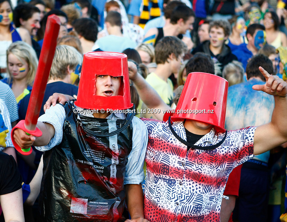 Crusaders fans during a Super 14 rugby match, Otago Highlanders versus Canterbury Crusaders. Carisbrook, Dunedin, New Zealand. Saturday 7 March 2009. Photo: Simon Watts/PHOTOSPORT