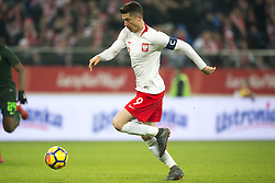 March 23, 2018 - Wroclaw, Poland - Robert Lewandowski of Poland runs with the ball during the international friendly match between Poland and Nigeria at Wroclaw Stadium in Wroclaw, Poland on March 23, 2018  (Credit Image: © Andrew Surma/NurPhoto via ZUMA Press)