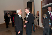 MICHAEL CRAIG-MARTIN; SIR NICHOLAS SEROTA, Gerhard Richter: Panorama. Tate Modern. London. 4 October 2011. <br /> <br />  , -DO NOT ARCHIVE-© Copyright Photograph by Dafydd Jones. 248 Clapham Rd. London SW9 0PZ. Tel 0207 820 0771. www.dafjones.com.