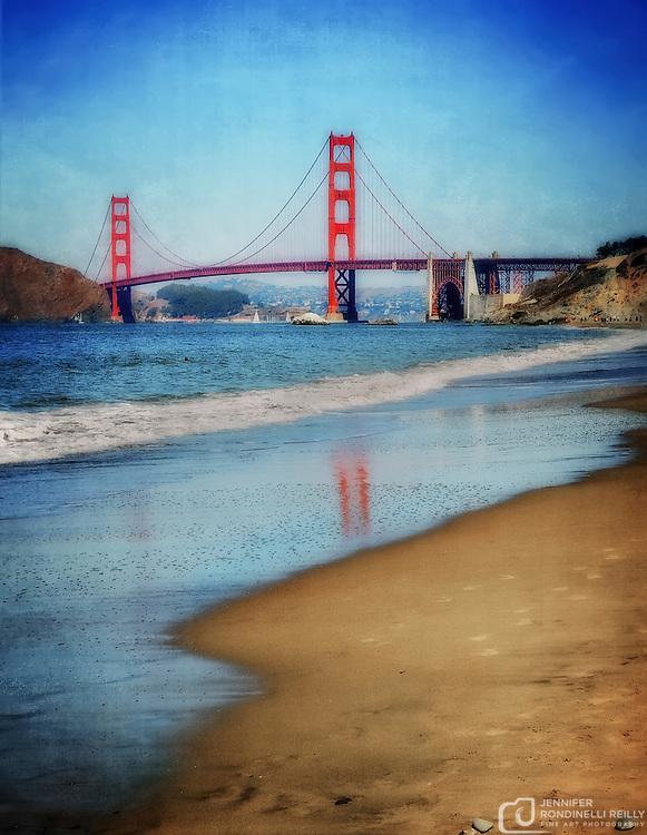 Photographing the Golden Gate Bridge from Baker Beach.