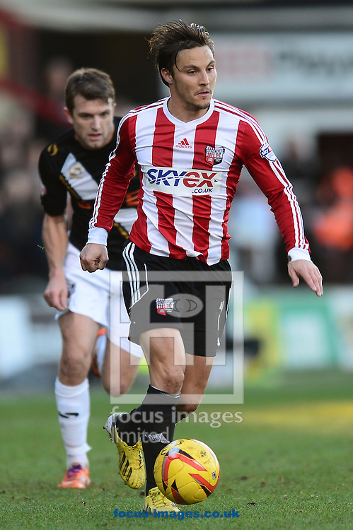 Picture by Alex Broadway/Focus Images Ltd +44 7905 628183<br /> 11/01/2014<br /> Sam Saunders of Brentford in action during the Sky Bet League 1 match at Griffin Park, London.