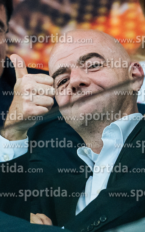 18.05.2016, St. Jakob Park, Basel, SUI, UEFA EL, FC Liverpool vs Sevilla FC, Finale, im Bild FIFA Präsident Gianni Infantino // FIFA President Gianni Infantino during the Final Match of the UEFA Europaleague between FC Liverpool and Sevilla FC at the St. Jakob Park in Basel, Switzerland on 2016/05/18. EXPA Pictures © 2016, PhotoCredit: EXPA/ JFK