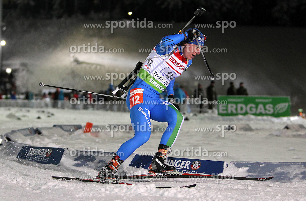05.01.2012, DKB-Ski-ARENA, Oberhof, GER, E.ON IBU Weltcup Biathlon 2012, Staffel Herren, im Bild Lukas Hofer (ITA) // during relay Mens of E.ON IBU World Cup Biathlon, Thüringen, Germany on 2012/01/05. EXPA Pictures © 2012, PhotoCredit: EXPA/ nph/ Hessland..***** ATTENTION - OUT OF GER, CRO *****