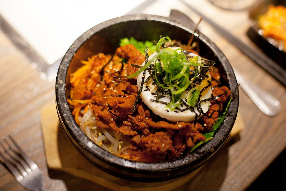 Spicy Pork Bibimbap at Barn Joo ($23.00)