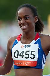 FRANCOIS-ELIE Mandy, FRA, 100m, T37, 2013 IPC Athletics World Championships, Lyon, France