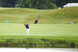 August 3, 2018 - Blaine, MN, U.S. - BLAINE, MN - AUGUST 03: Wes Short, Jr. hits his approach shot on 18 during the first round of the 3M Championship on August 3, 2018 at TPC Twin Cities in Blaine, Minnesota. (Photo by David Berding/Icon Sportswire) (Credit Image: © David Berding/Icon SMI via ZUMA Press)