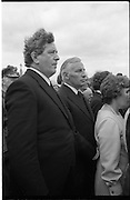 Funeral of Eamon DeValera.   (J72)..1975..02.09.1975..09.02.1975..2nd September 1975..Today saw the funeral of Eamon DeValera. He was laid to rest beside his wife Sinead in Glasnevin Cemetery,Dublin. Dignitries from all around the world attended at the funeral...Picture of Mr Garret Fitzgerald and Mr Peter Barry among the mourners at the funeral.