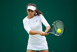LONDON, ENGLAND - Tuesday, July 3, 2012: Ipek Soylu (TUR) during the Girls' Singles 1st Round match on day eight of the Wimbledon Lawn Tennis Championships at the All England Lawn Tennis and Croquet Club. (Pic by David Rawcliffe/Propaganda)