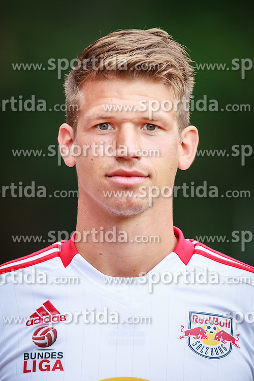 29.06.2012, Steinbergstadion, Leogang, AUT, FC Red Bull Salzburg, Fototermin, im Bild Franz Schiemer, (Red Bull Salzburg, #15) waehrend des offiziellen Mannschafts- bzw. Portraitfoto Termins // during the official tema photo shoot at the Steinbergstadion, Leogang, Austria on 2012/06/29. EXPA Pictures © 2012, PhotoCredit: EXPA/ Juergen Feichter