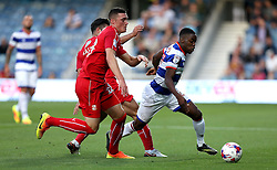 Olamide Shodipo of Queens Park Rangers runs with the ball - Mandatory by-line: Robbie Stephenson/JMP - 10/08/2016 - FOOTBALL - Loftus Road - London, England - Queens Park Rangers v Swindon Town - EFL League Cup