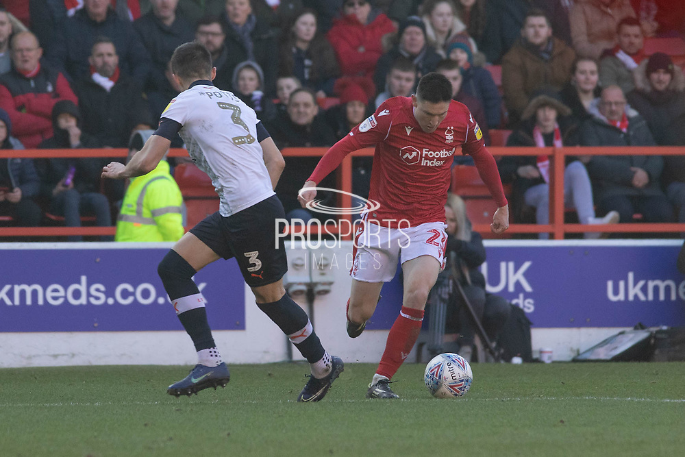GOAL Joe Lolley scores his 2nd during the EFL Sky Bet Championship match between Nottingham Forest and Luton Town at the City Ground, Nottingham, England on 19 January 2020.