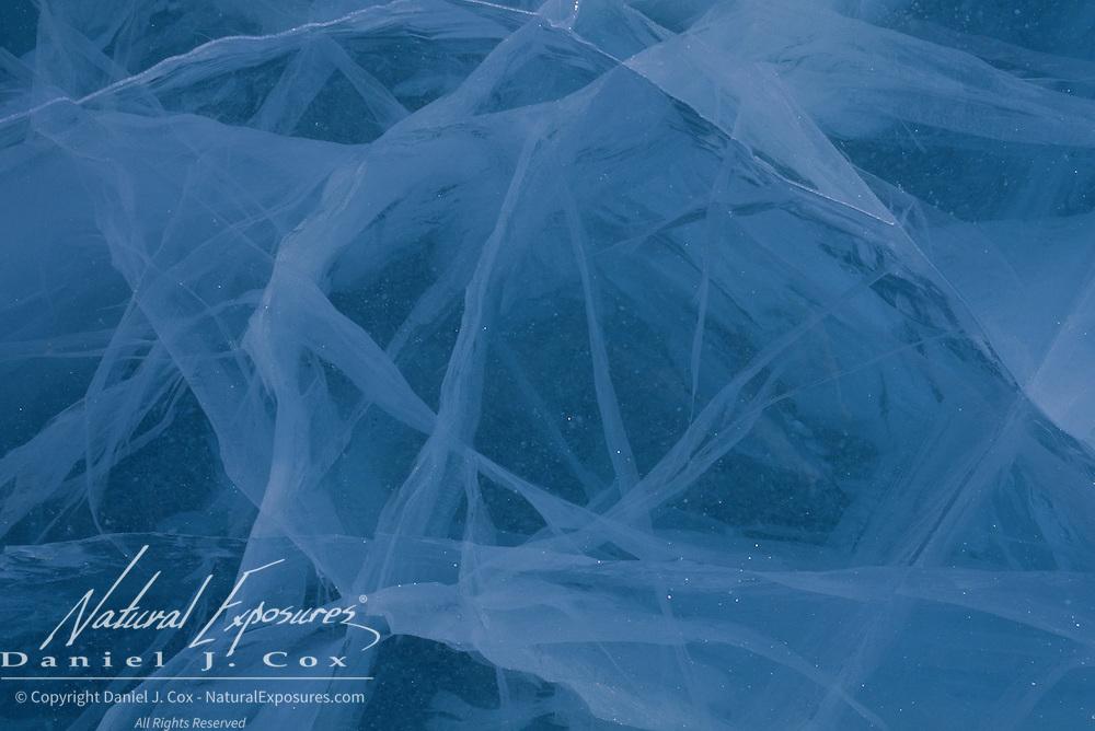 Frozen ice in Wapusk National Park in northern Manitoba, Canada.