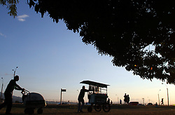 A salesman waits for customers in a park near the Juan Santamaria International Airport, in Alajuela city, 25km northwest of San Jose, capital of Costa Rica, on Feb. 28, 2015. EXPA Pictures © 2015, PhotoCredit: EXPA/ Photoshot/ [e]KENT GILBERT<br /> <br /> *****ATTENTION - for AUT, SLO, CRO, SRB, BIH, MAZ only*****
