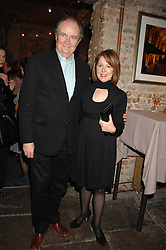 Actor JIM BROADBENT and his wife ANASTASIA at a reception to Discover Wilton's Music Hall held at the hall in Graces Alley, London E1 on 5th December 2007.<br />